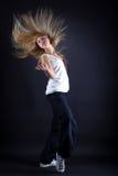 Danzatore moderno della donna nell'azione Fotografia Stock