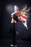 Danzatore moderno della donna nell'azione Fotografia Stock Libera da Diritti