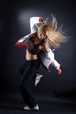 Danzatore moderno della donna nell'azione Immagini Stock