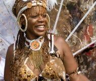 Danzatore nel carnevale del Notting Hill, Londra Immagini Stock Libere da Diritti