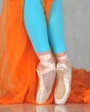 Danzatore nel pointe di balletto Fotografia Stock Libera da Diritti