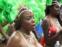 Danzatore nella parata caraibica Immagini Stock Libere da Diritti