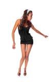 Danzatore sottile isolato su priorità bassa bianca Fotografie Stock