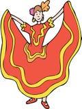 Danzatore spagnolo royalty illustrazione gratis