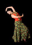 Danzatore spagnolo di flamenco fotografia stock