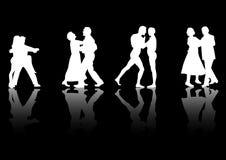 Danzatori con le riflessioni illustrazione di stock