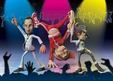 Danzatori del fumetto al randello Immagini Stock Libere da Diritti