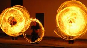 Danzatori del fuoco Immagine Stock Libera da Diritti