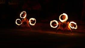 Danzatori del fuoco Fotografie Stock Libere da Diritti