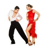 Danzatori del Latino nell'azione Fotografia Stock Libera da Diritti