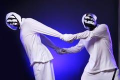 Danzatori del luppolo dell'anca in studio Immagini Stock
