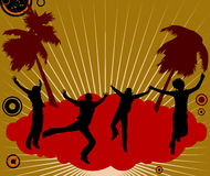 Danzatori del partito illustrazione di stock