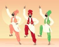Danzatori del Punjabi Immagine Stock Libera da Diritti