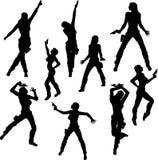 Danzatori della ragazza della pistola Fotografie Stock