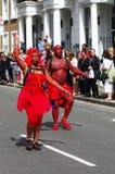 Danzatori della via al carnevale di Londra Notting Hill Fotografie Stock