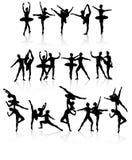 Danzatori di balletto isolati Immagine Stock