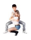 Danzatori di fretta Fotografie Stock Libere da Diritti