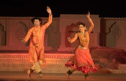 Danzatori di Kathak Fotografia Stock Libera da Diritti