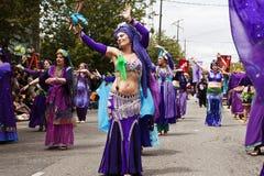 Danzatori di pancia della strada di seta Fotografia Stock Libera da Diritti
