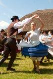 Danzatori di piega ungheresi Fotografia Stock