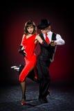 Danzatori di tango di eleganza Fotografie Stock Libere da Diritti