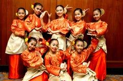 Danzatori di Zapin fotografie stock
