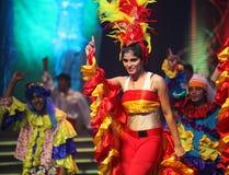 Danzatori indiani colorati Fotografia Stock