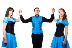 Danzatori irlandesi Immagini Stock Libere da Diritti