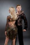 Danzatori latini Fotografia Stock Libera da Diritti