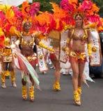 Danzatori nel carnevale 2009 del Notting Hill Fotografia Stock Libera da Diritti
