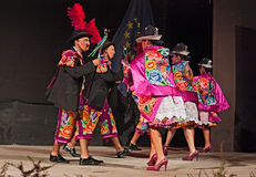 Danzatori peruviani Fotografie Stock
