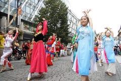 Danzatori a Praga Fair2 Fotografia Stock Libera da Diritti