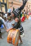 Danzatori Prague4 di folclore Fotografia Stock