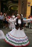 Danzatori Prague5 di folclore Immagini Stock Libere da Diritti