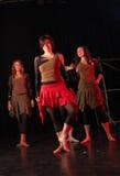 Danzatori sulla fase Fotografia Stock