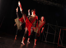 Danzatori sulla fase Immagini Stock