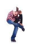 Danze moderne di dancing dell'uomo Fotografia Stock