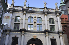 Danzica, Polonia 25 agosto: Il Golden Gate del centro a Danzica dalla Polonia Immagini Stock Libere da Diritti