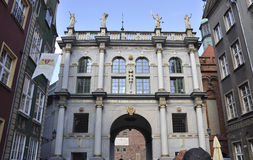Danzica, Polonia 25 agosto: Il Golden Gate del centro a Danzica dalla Polonia Fotografia Stock Libera da Diritti