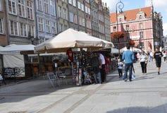 Danzica, Polonia 25 agosto: Itinerario reale del centro a Danzica dalla Polonia Fotografia Stock