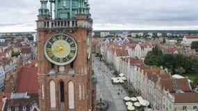 Danzica, Polonia, 07 2016, FOOFTAGE AEREO fotografie stock libere da diritti
