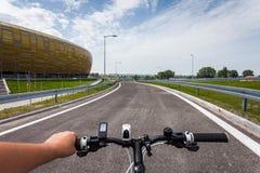 Danzica, Polonia. La strada accanto allo stadio di football americano. Fotografia Stock