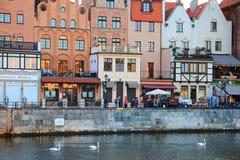 Danzica, Polonia, porto marittimo baltico Fotografie Stock