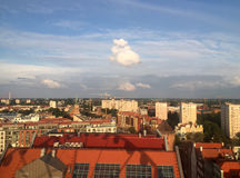 Danzica Polonia, vista dalla ruota di Amber Sky immagine stock libera da diritti