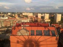 Danzica Polonia, vista dalla ruota di Amber Sky fotografia stock libera da diritti