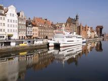 Danzig-Gdansk alter Kran Stockfoto