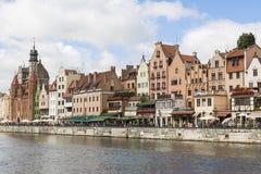 Danzig, Polen - 7. Juli 2016: Alte Stadt Gdansks in Polen Lizenzfreies Stockfoto