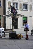 Danzig, Pologne 25 août : Artiste de rue du centre à Danzig de Pologne Images stock