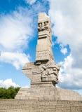 DANZIG, POLOGNE - VERS 2014 : Monument sur le Westerplatte à la mémoire des défenseurs polonais de Danzig en Pologne, vers Photographie stock libre de droits