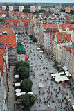 Danzig, Pologne. Vue Bird's-eye. image stock
